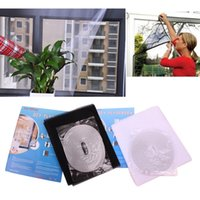 Wholesale 1 mx1 m White Black Insect FlyBug Mosquito Proof Window Screen Curtain Protector Net Mesh