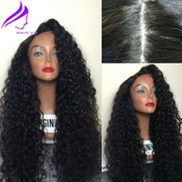 Wholesale High quality Density Curly Synthetic Lace Front Wigs heat resistant loose curly synthetic wig African American Wig