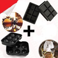 Wholesale New Design Hole Ice Cube Ball Drinking Wine Tray Brick Round Maker Mold Sphere Mould Party Bar Silicone Ice Hockey Maker