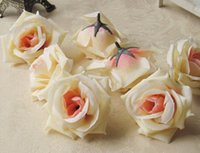 big flower brooch - Silk flower head big rose flowers artificial flowers ball head brooch wedding decoration flower cm diameter