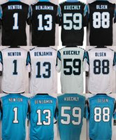 authentic letter - Men s Authentic Elite Cam Newton Kelvin Benjamin Jonathan Stewart Luke Kuechly Stitched Football Jersey