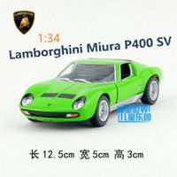 Wholesale KINSMART Die Cast Metal Models Scale Miura P400 SV toys for children s gifts or for collections pull back educational limited