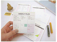 Wholesale Pages Weekly Monthly Plan Mini Notebook Check list Diary Agenda Message Note Work Schedule Desktop Scratch Pad Memos Book