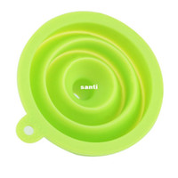 Wholesale New Arrive Mini Silicone Gel Foldable Collapsible Style Funnel Hopper Kitchen cooking tools