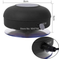 Wholesale 1pcs Portable Waterproof Wireless Bluetooth Protable Speaker Shower Car Handsfree Receive Call amp Music Suction Phone Mic