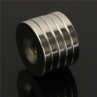 Wholesale Excellent Quality N50 Strong Round Countersunk Magnets x3mm Rare Earth Neodymium Magnets Hole mm
