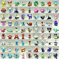Wholesale 144 Style Poke Figures Toys cm Multicolor Children Cartoon Pikachu Charizard Eevee Bulbasaur Suicune PVC Mini Model Toy