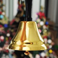 bell ringtones - L M S size Gold plated Hand held Call Bells tea jingle Bells Build Ringtones Christmas toy Xmas Toys