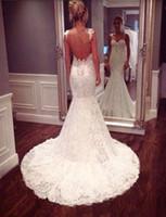 beautiful robe - Vestido De Noiva Robe De Mariee Beautiful Low Back Bodice Lace Bridal Dress Sexy Spaghetti Straps Lace Mermaid Wedding Dresses