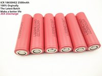 Wholesale LGHE2 mah Battery Newest Originally LG ICR HE2 Rechargeable Battery For Electronic Cigarette Free Shippin