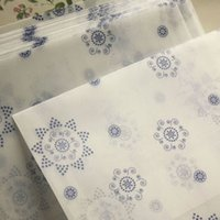 Wholesale romantic Snowflower envelope postcards greeting card cover parchment paper envelopes stationery school supplies