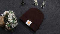 Wholesale 18 Colors Carhartt Men Designer Hat Knit Beanie Soft Hip Hop Skull Caps Slouchy Fashion Snapback Women