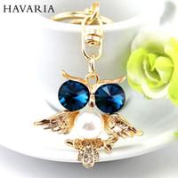 bags artificial jewelry - Brand Rhinestone Artificial pearls Women Keychain Jewelry Key Chain Holder Ring Car Bag Pendant Charm keyring bbk