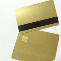 Wholesale 200pcs PVC FM4428 Chip with Hi Co Magnetic Stripe Smart IC Blank Card Printable Zebra Card Printer