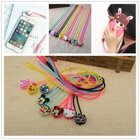 Wholesale New D Cute Cartoon Mobile Phone Silicon Neck Straps Lanyard Hanging Neck Straps For Samsung S7 IPHONE S Cell Phone Camera MP3 MP4 PSP Key