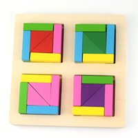 Wholesale Set Of Jigsaw puzzles Wooden Block Puzzle Education Toys Intelligence Development Toys For under Years Kids P C