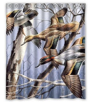 bath curtain duck - Birds Ducks Animals Custom Fashion Waterproof Fabric Bath Shower Curtain X180CM