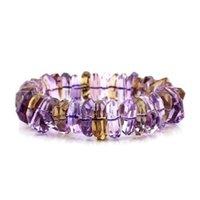 ametrine bracelet - 3A Rare Ametrine Sparkle Facets Bracelet mmI Grounding Stone Protection Very Precous Stone