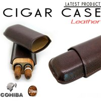 advertising ashtray - COHIBA leather cigar case portable wood cigar tube cigar lighter customized advertising gifts