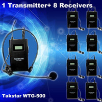 Wholesale Transmitter Receiver Original Takstar WTG UHF PLL Wireless tour guide system voice device teaching