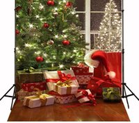 Wholesale Yame ft h x5ft w Christmas Tree Gift Backdrop Background for Studio