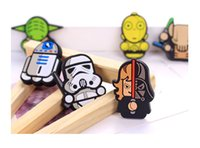 Wholesale 2016 New Arrivals Cartoon Star Wars Fridge Magnets Kids Kawaii Cute Vader Yoda Decorative Refrigerator Souvenir Magnetic Sticker