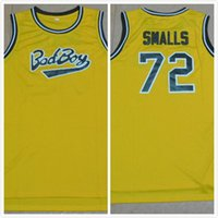 Wholesale 2016 New Arrival Bad Boy smalls Jersey good Quality Men s retro Yellow Jerseys Size S XXL mixed orders