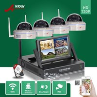 Wholesale ANRAN CH NVR LCD Monitor P HD Network Wireless IR Outdoor Home Security MP IP WIFI Camera System With TB HDD