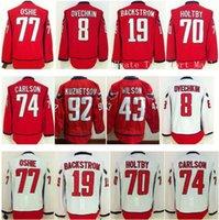 77 - Washington T J TJ Oshie Ice Hockey Jerseys Red Alex Ovechkin Nicklas Backstrom Braden Holtby Brooks Orpik John Carlson