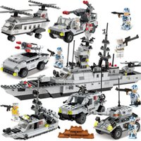 Wholesale World standard pieces of building blocks of sets of boxes of the box of the military series of naval and military series of children