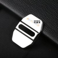 amg steel - 4 Stainless steel Car Door lock buckle cover decoration Car styling D sticker for Mercedes Benz GLK C E M class AMG logo