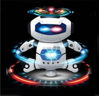 Wholesale Dance robot led toys best popular kids toys Rotate degrees Dance music astronauts robot children best birthday gift