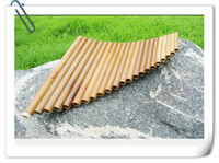 Wholesale 2016Hot Pan Flute or Pipes Natural Bamboo Wind Instrument Panpipe G Key Flauta Xiao Handmade Pan Flute Flauta Folk Musical Instruments