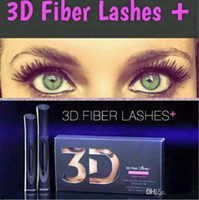 Wholesale 2016 HOT Newest version D Fiber Lashes Waterproof Double Mascara D FIBER LASHES Set Makeup Eyelash set