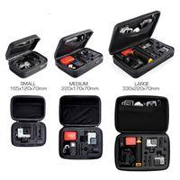 anti shock camera - GoPro Hero EVA Bag S M L Size Collection Box Anti shock Portable Camera Case for Go pro Hero3 Camera Accessories hightquality