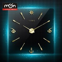 bell post - The new large size propeller wall clock fish wall post bracket clock bell cm diameter mirror wall bracket clock with high quality