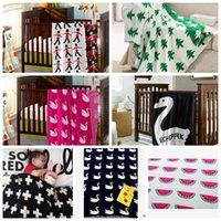 korean style blankets - LJJL215 INS Children Soft Infant Sofa Bedding Sleep Blanket Cotton Cute Knit Bed Blanket Styles Pieces