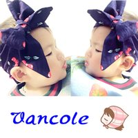 Wholesale Crystal Ribbon Hair Band Wholesale - 2016 new children's hair band Europe wind cute baby infant lace bow hair ribbon bow hair accessories mixed batch