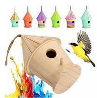 big bird house - Big Wooden DIY Bird House Birdhouse Nesting Box Nest Home Garden Outdoor Hanging Decor