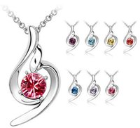 angels plants - Hot sell Angel crystal necklaces K plated Pendant necklace Silver locket necklace Fashion jewelry new Colors cs487