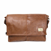 Wholesale Men PU Leather Messenger Crossbody School Bag Business Shoulder Casual Sling Satchel Bags For Inch Laptop Vintage Casual