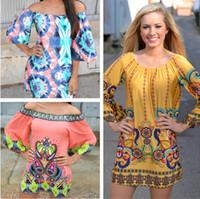 beaches thailand - Bohemia boho bodycon dresses Thailand style the word collar skirt beach dress Women s Clothing Casual Dresses color