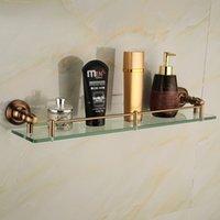 antique corner shelves - Antique Space aluminum glass shelf Single bathroom shelf shelves bathroom accessories bathroom fittings F