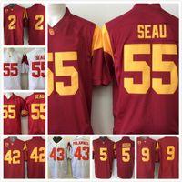 Wholesale cheap nova USC Trojans Junior Seau Jersey Robert Woods JuJu Smith Reggie Bush Troy Polamalu JuJu Smith men Football shirt