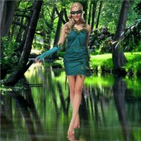 beautiful temptation - 2016 Green Beautiful Fairy Costume Sexy Cosplay Halloween Women Dress Uniform Temptation Club Party Stage Performance Clothing Hot Selling