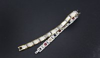 best gifts health - DHL shipping Factory Direct Germanium Health Bracelet Stainless Steel Titanium Magnetic Bracelet Styles Best Gift