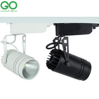 Wholesale LED Track Light Dimmable W COB Rail Lamp lm W Spotlight Shoe Clothing Store Shop Market Supermarket Spot Lights Indoor Lighting