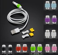 Wholesale DHL USB Lightning Data Charger Cable Saver Protector For iPhone s S Plus ES ipad Headset Protection Earphone Wire Cord Protective DHL