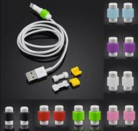 al por mayor iphone dhl cargador-DHL USB relámpago de datos del cargador del cable ahorrador del protector para el iPhone 5 5s 6 6S Plus Protección ES ipad del auricular del alambre del cable de DHL protector