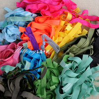 Wholesale Fashion Pure Colors Random Colors CM Width Elastic Hair band rope Belt Hair tie DIY Jewelry Findings